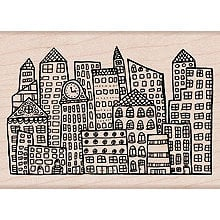 Hero Arts - Woodblock - Wood Mounted Stamps - Silly Scape