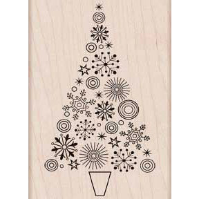 Hero Arts - Woodblock - Christmas - Wood Mounted Stamps - Sparkle Tree