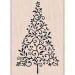 Hero Arts - Woodblock - Christmas - Wood Mounted Stamps - Branch and Flourish Tree