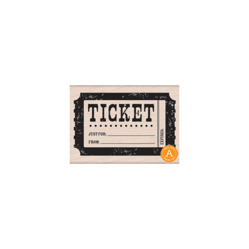 Hero Arts - Woodblock - Wood Mounted Stamps - Ticket
