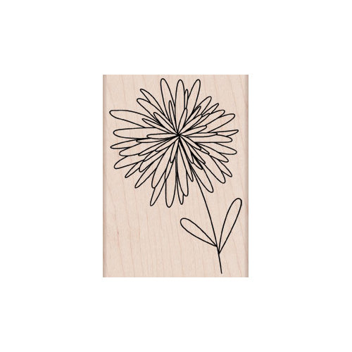 Hero Arts - Woodblock - Wood Mounted Stamps - Pom Pom Flower