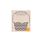 Hero Arts - Woodblock - Wood Mounted Stamps - Zig Zag Cupcake