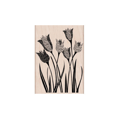 Hero Arts - Woodblock - Wood Mounted Stamps - Newspaper Tulip