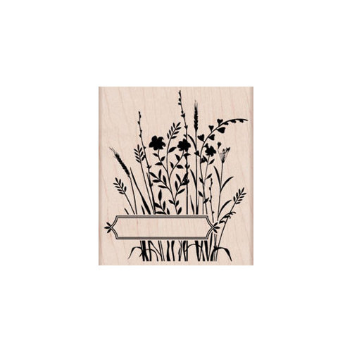 Hero Arts - Woodblock - Wood Mounted Stamps - Wildflowers with Label