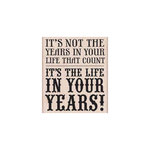 Hero Arts - Woodblock - Wood Mounted Stamps - Life in Your Years