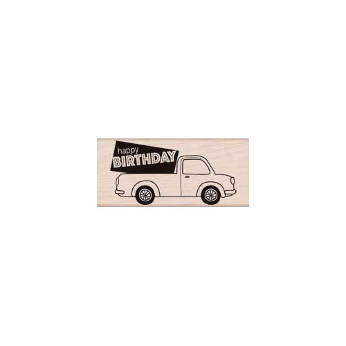 Hero Arts - Woodblock - Wood Mounted Stamps - Birthday Delivery
