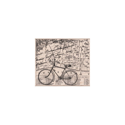 Hero Arts - Woodblock - Wood Mounted Stamps - Bicycle Collage