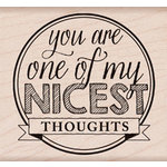 Hero Arts - Wood Block - Wood Mounted Stamp - Nicest Thoughts