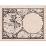 Hero Arts - Wood Block - Wood Mounted Stamp - Map Card