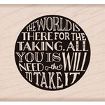 Hero Arts - Wood Block - Wood Mounted Stamp - World for Taking