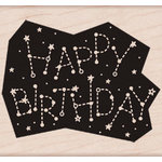 Hero Arts - Wood Block - Wood Mounted Stamp - Birthday Constellation