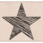 Hero Arts - Woodblock - Wood Mounted Stamps - Big Star