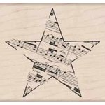 Hero Arts - Woodblock - Wood Mounted Stamps - Music Star