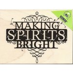 Hero Arts - Woodblock - Christmas - Wood Mounted Stamps - Making Spirits Bright