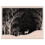Hero Arts - Woodblock - Christmas - Wood Mounted Stamps - Snowy Scene
