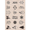 Hero Arts - Woodblock - Christmas - Wood Mounted Stamps - Merry Christmas Stamp Set