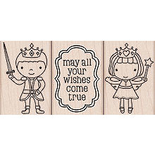 Hero Arts - Woodblock - Wood Mounted Stamps - Prince and Princess