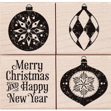 Hero Arts - Woodblock - Christmas - Wood Mounted Stamps - Traditional Ornaments