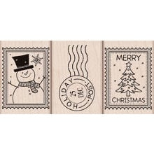 Hero Arts - Woodblock - Christmas - Wood Mounted Stamps - Christmas Post