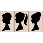 Hero Arts - Woodblock - Wood Mounted Stamps - Silhouettes Trio