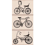Hero Arts - Woodblock - Wood Mounted Stamps - Bikes Trio