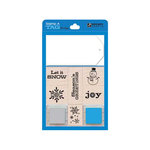 Hero Arts - Stamp a Tag - Wood Mounted Stamp and Tag Set - Blue