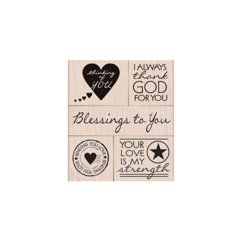 Hero Arts - Operation Write Home - Woodblock - Wood Mounted Stamps - Blessing To You