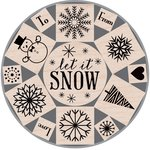 Hero Arts - Woodblock - Christmas - Wood Mounted Stamps - Let It Snow Tin