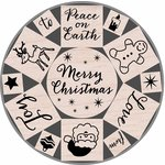 Hero Arts - Woodblock - Christmas - Wood Mounted Stamps - Merry Christmas Tin