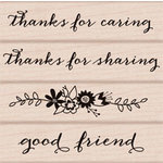 Hero Arts - Wood Block - Wood Mounted Stamp - Thanks for Caring