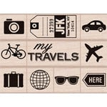 Hero Arts - Wood Block - Wood Mounted Stamp - My Travel Icons