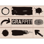 Hero Arts - Wood Block - Wood Mounted Stamp - Graffiti