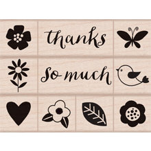 Hero Arts - Wood Block - Wood Mounted Stamp - Thanks So Much