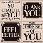 Hero Arts - Wood Block - Wood Mounted Stamp - So Grateful For You