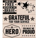 Hero Arts - Operation Write Home - Wood Block - Wood Mounted Stamp - Hero