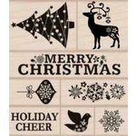 Hero Arts - Woodblock - Christmas - Wood Mounted Stamps - Fancy Christmas