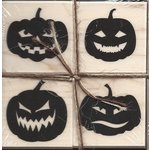 Hero Arts - Woodblock - Halloween - Wood Mounted Stamps - Faces For Halloween