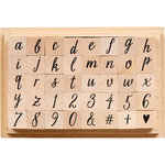 Hero Arts - Wood Block - Wood Mounted Stamp - Casual Letters and Numbers