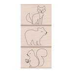 Hero Arts - Lia Griffith Collection - Woodblock - Wood Mounted Stamps - Animal Trio