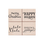 Hero Arts - Lia Griffith Collection - Woodblock - Christmas - Wood Mounted Stamps - Holiday Messages