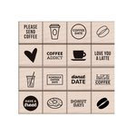 Hero Arts - Kelly Purkey Collection - Woodblock - Wood Mounted Stamps - Coffee and Donuts