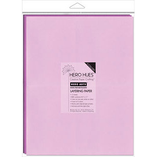 Hero Arts - Hero Hues - 8.5 x 11 Layering Paper - Floral Mix