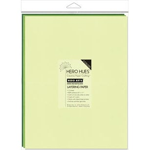 Hero Arts - Hero Hues - 8.5 x 11 Layering Paper - Foliage Mix
