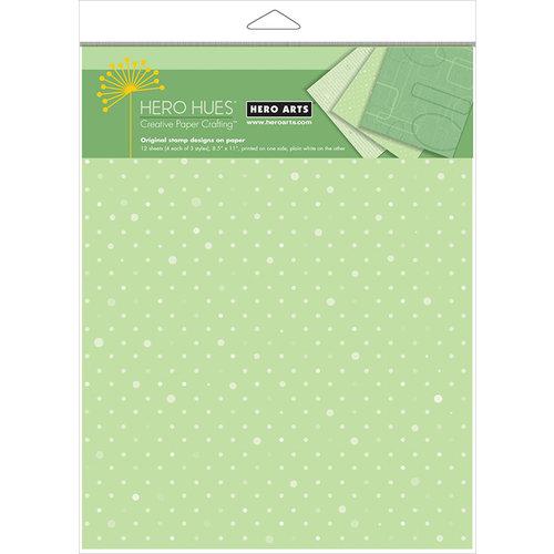 Hero Arts - Hero Hues - 8.5 x 11 Designer Paper Pack - Foliage