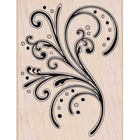 Hero Arts - Woodblock - Wood Mounted Stamps - Bold Flourish