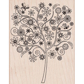 Hero Arts - Woodblock - Wood Mounted Stamps - Flower Tree
