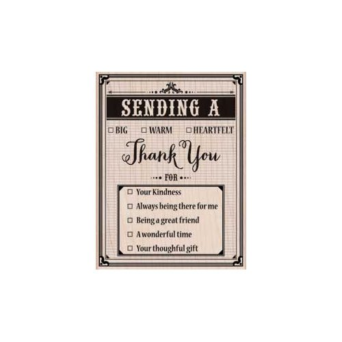 Hero Arts - Woodblock - Wood Mounted Stamps - Sending a Thank You