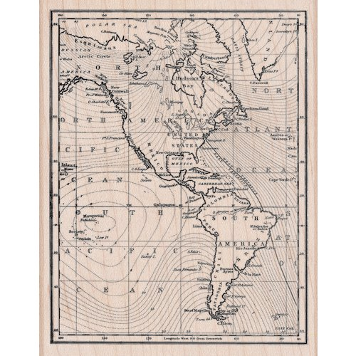Hero Arts - Woodblock - Wood Mounted Stamps - Map of America