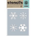 Hero Arts - Christmas - Stencils - Four Snowflakes