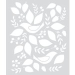 Hero Arts - BasicGrey - Evergreen Collection - Stencils - Birds and Leaves